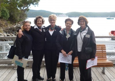 The 'Girl Guides' at Port Arthur Pier...